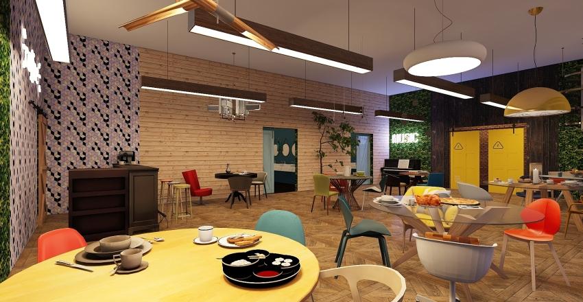 Cafe Interior Design Render
