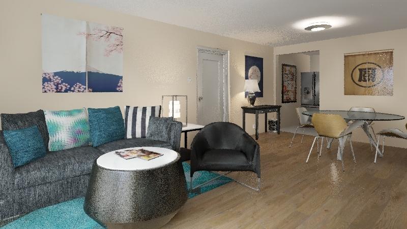 Zen in LA Interior Design Render
