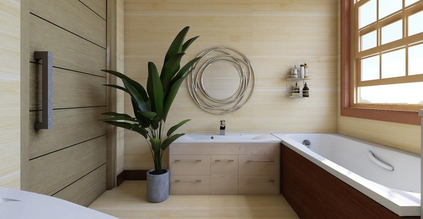 Eco-Friendly Bedroom Interior Design Render