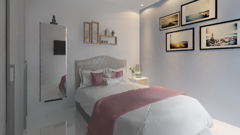 quarto rosy Interior Design Render