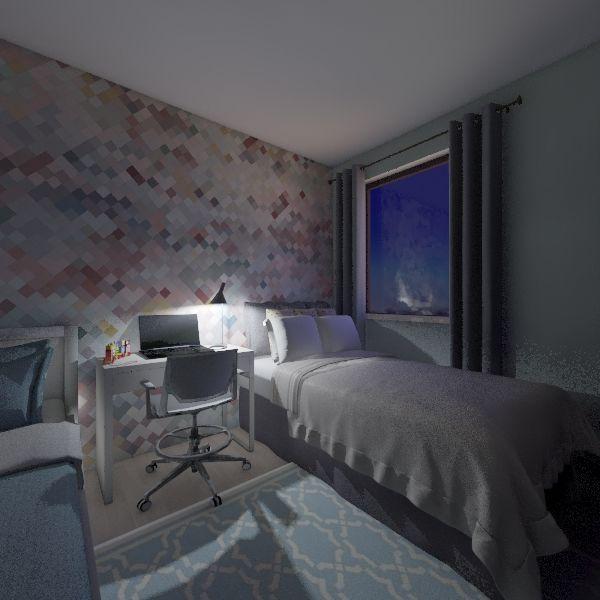 mu bedroom Interior Design Render