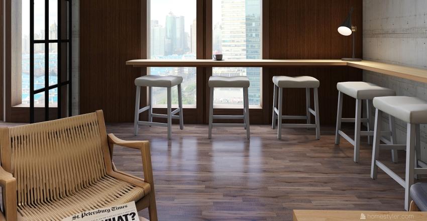 Blanc Coffee Interior Design Render