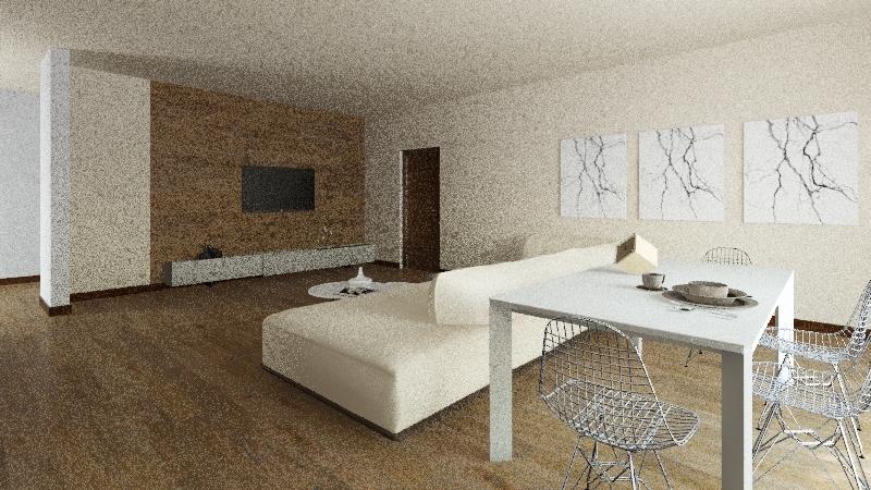 учебная квартира Interior Design Render