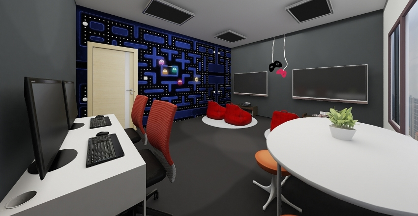 IG Collaboration Rm - The Dark Theme Interior Design Render