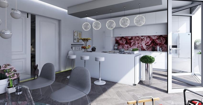 TOW- STOREY  HOUSE Interior Design Render