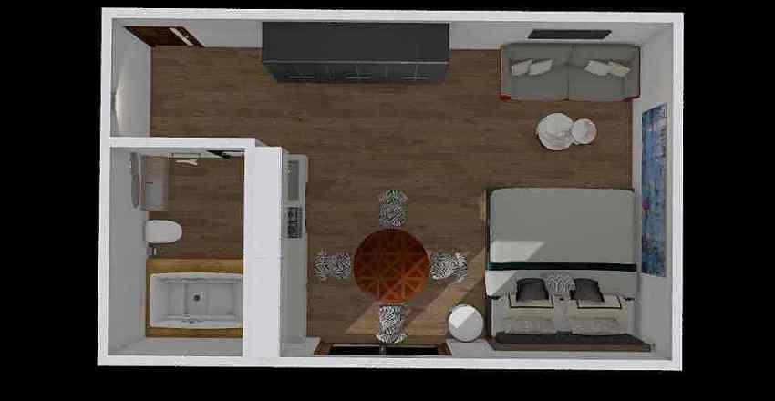 Terrace Studio Interior Design Render