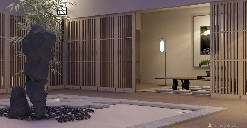 Japanese Zen  Interior Design Render