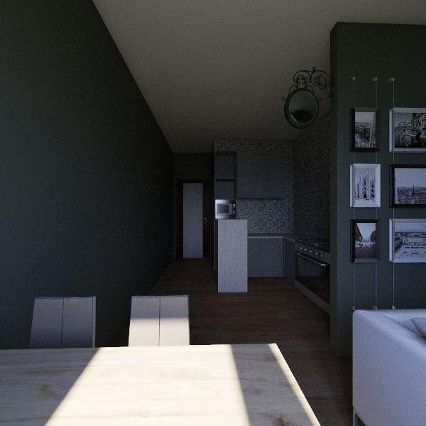Planta novo Layout Interior Design Render