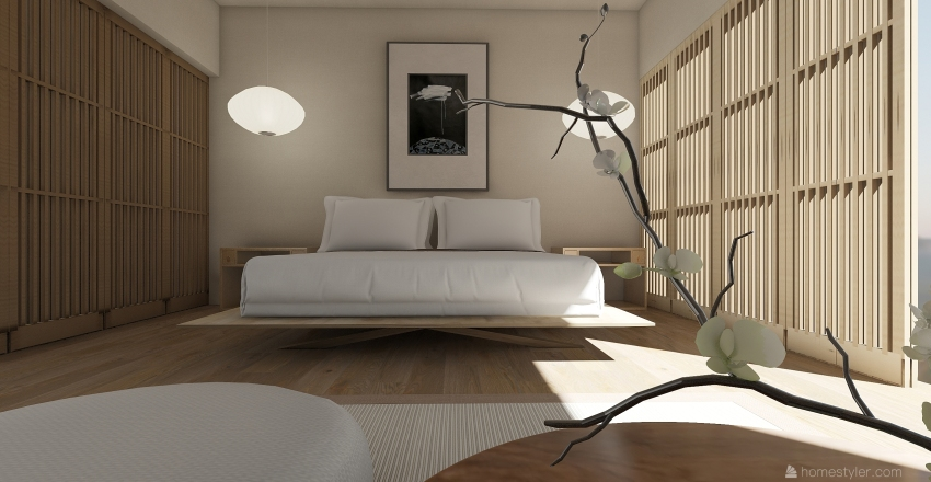 Japanese Zen  Interior Design Render