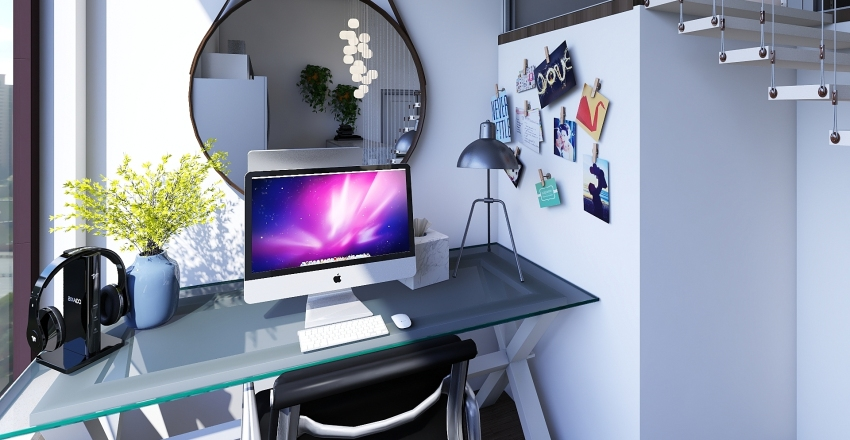 Small Loft Apartment Interior Design Render
