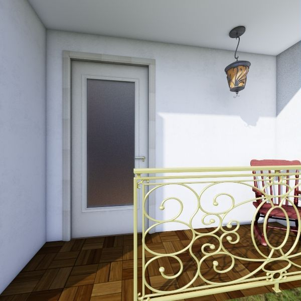 mini country house Interior Design Render