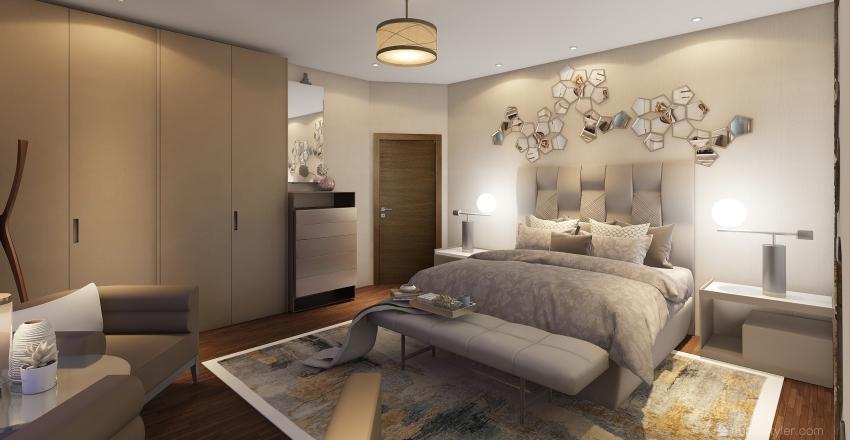 hab con sala Interior Design Render