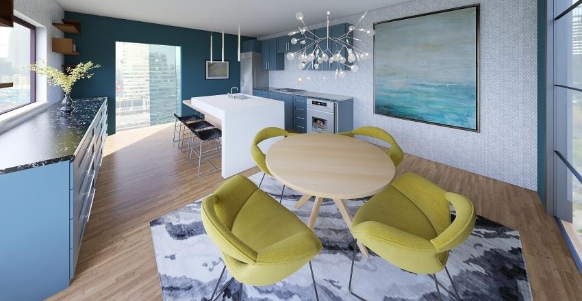 Modern Kitchen Project Interior Design Render
