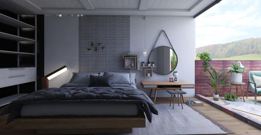 Bedroom in Progress Interior Design Render