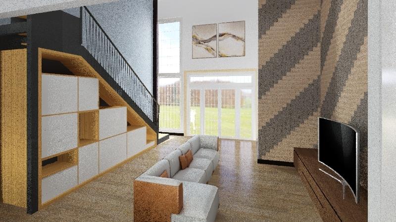 metalo karkaso namas Interior Design Render