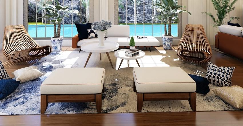 Blues of the Caribbean Interior Design Render