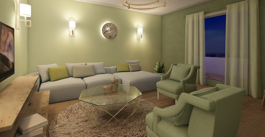 living Interior Design Render