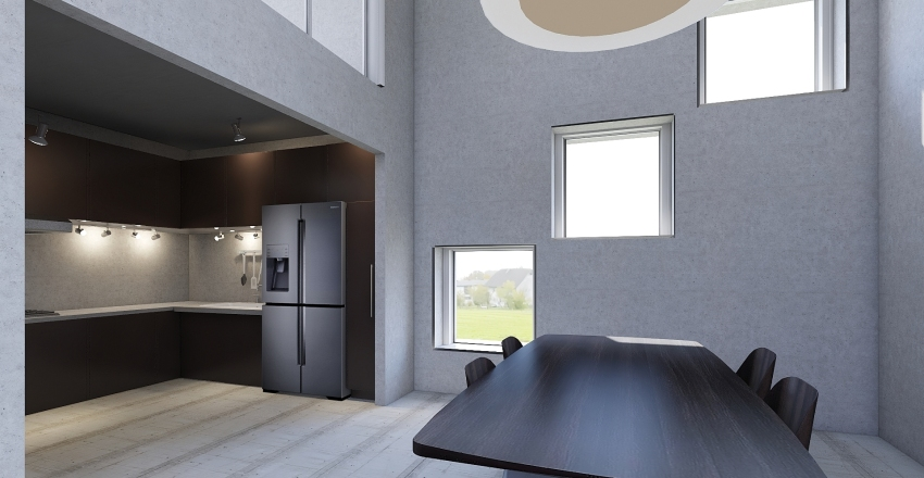 Concrete box Interior Design Render