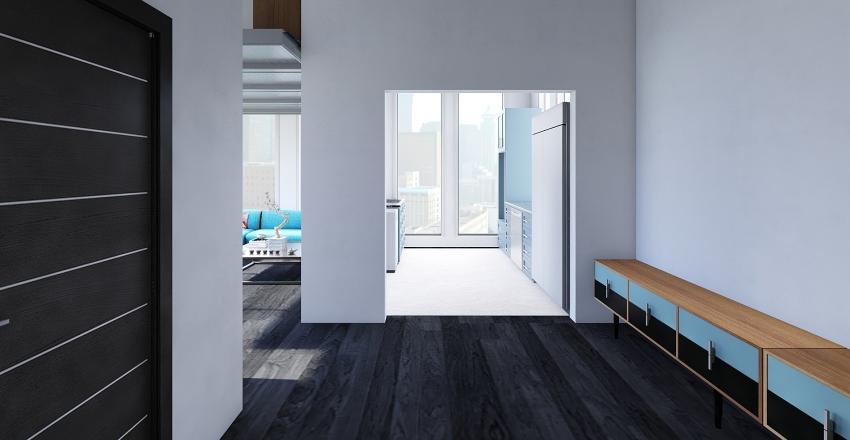 Blue Studio Interior Design Render