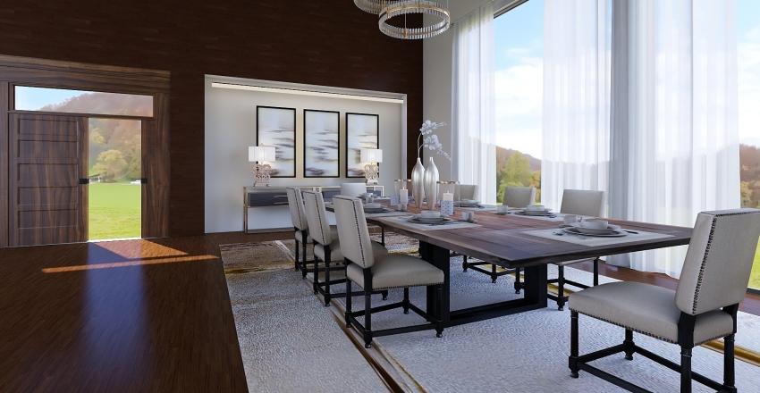 living space  Interior Design Render