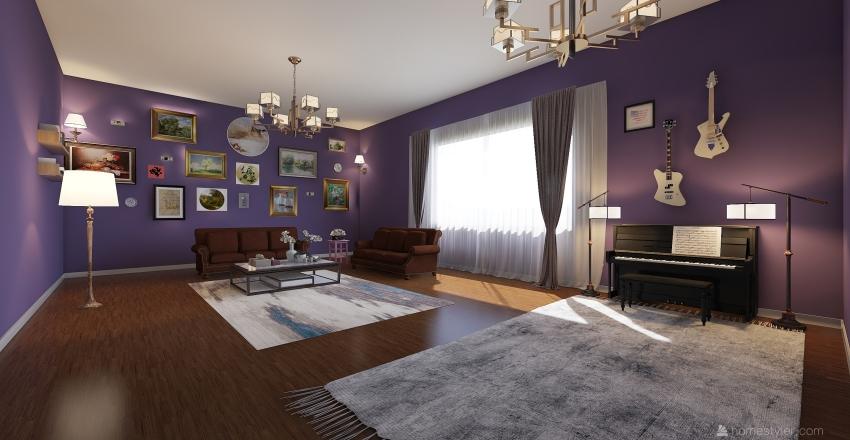 İNGİLİZ NOSTAlJİSİ Interior Design Render