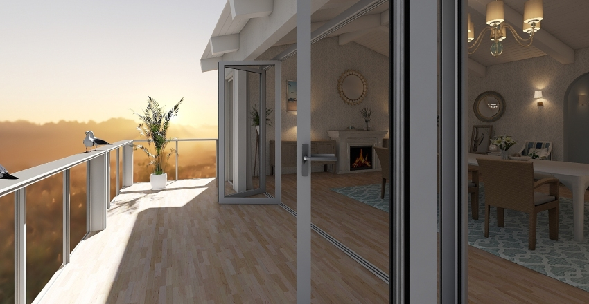 Coastal Charm Interior Design Render