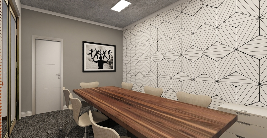 Modern and Playful Office Design Interior Design Render