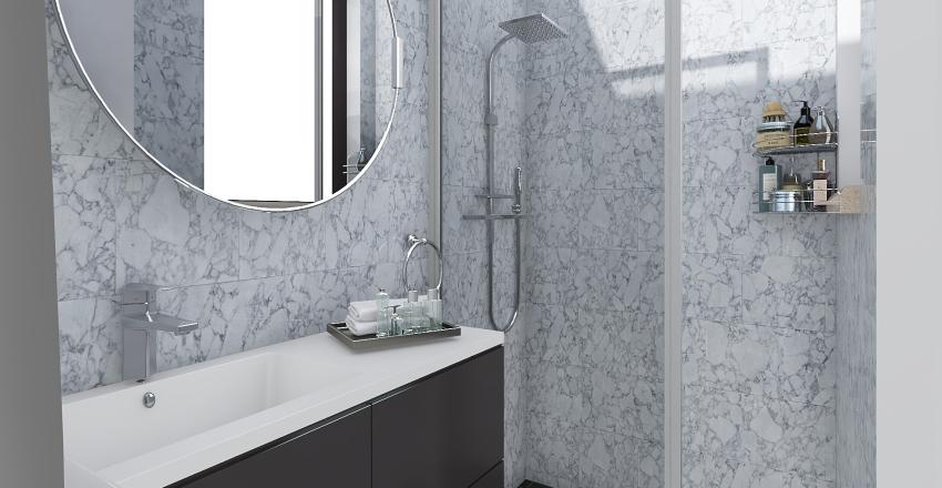 Baño apartamento - Mamá Interior Design Render