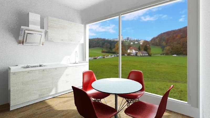 monoambiente salvator 1 con balcon Interior Design Render
