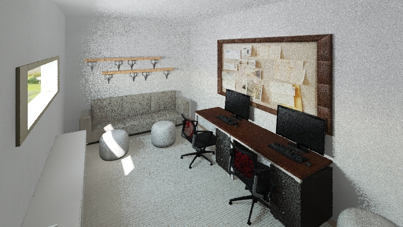 CIC 6th-N. Red Oak Interior Design Render
