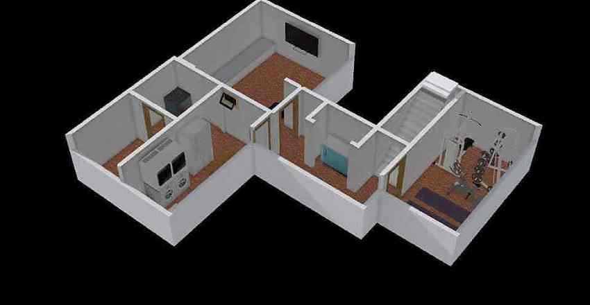 Caumartin_Sous-sol Interior Design Render