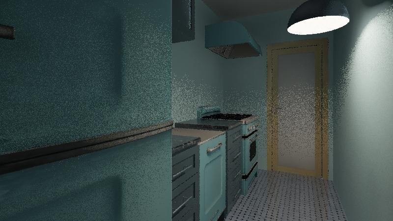 Colorful apartment Interior Design Render