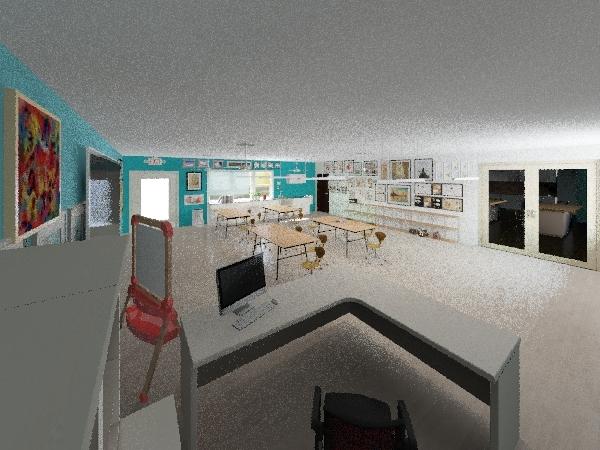 school Interior Design Render