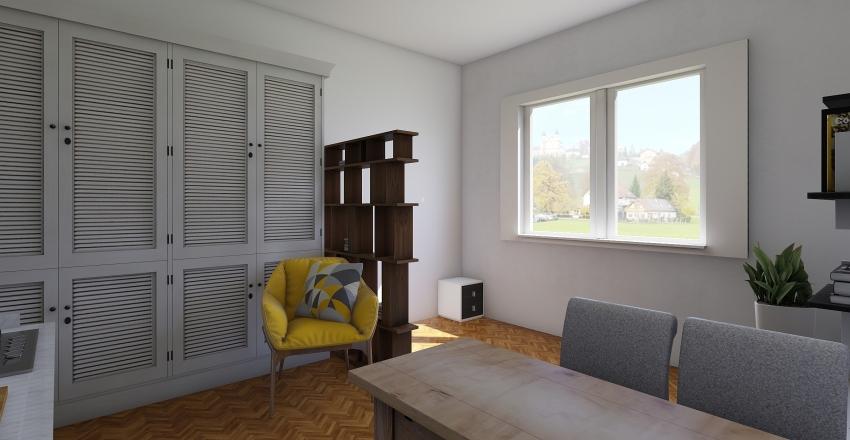 garsonka 20m2 Interior Design Render