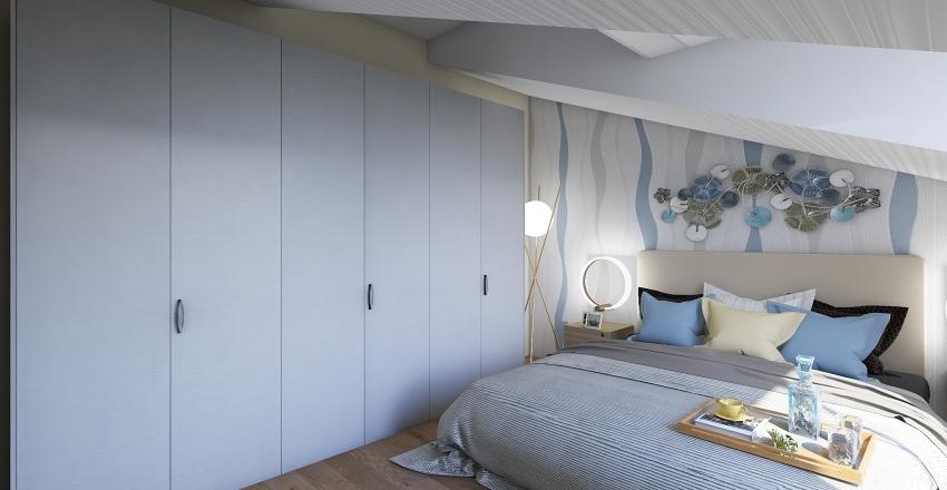Ristrutturazione attico Interior Design Render
