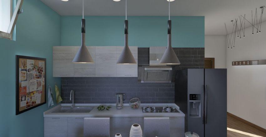 Private apartment in Naples province Interior Design Render