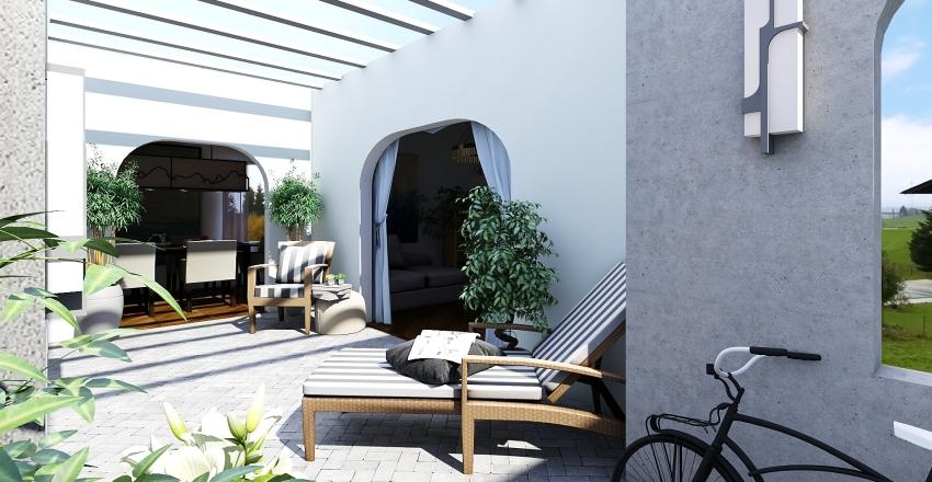 Mediterranean Home Interior Design Render