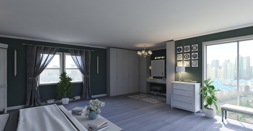 Blue Sunday Interior Design Render