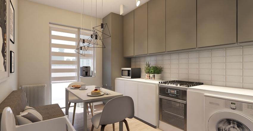 40 м.кв. Interior Design Render