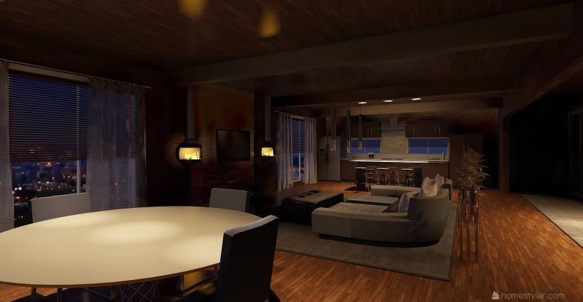 Cabin Romance Interior Design Render
