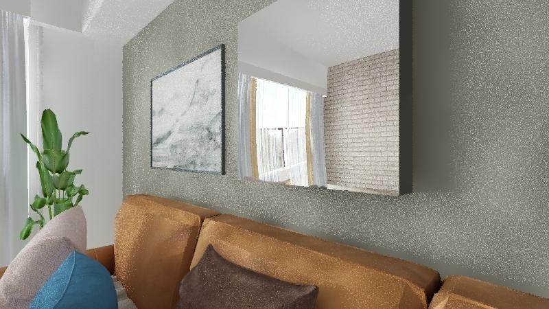 living_brown Interior Design Render