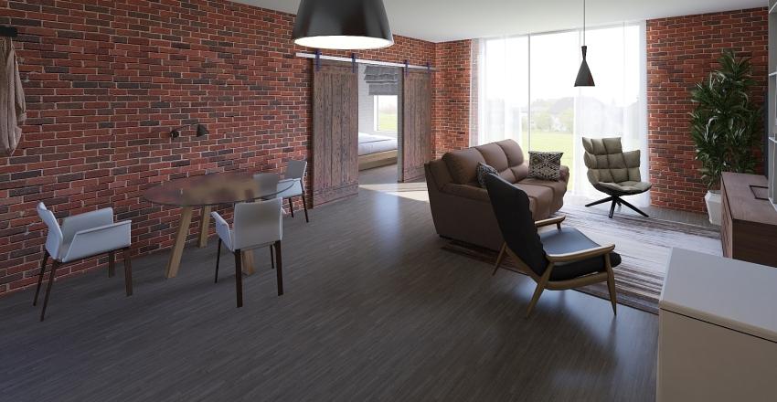 Little modern apartment somewhere Interior Design Render