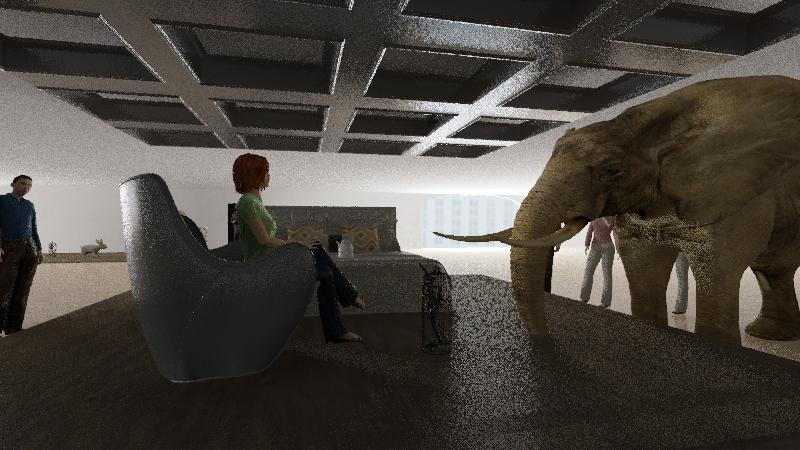 The Human Metaphor Museum Interior Design Render