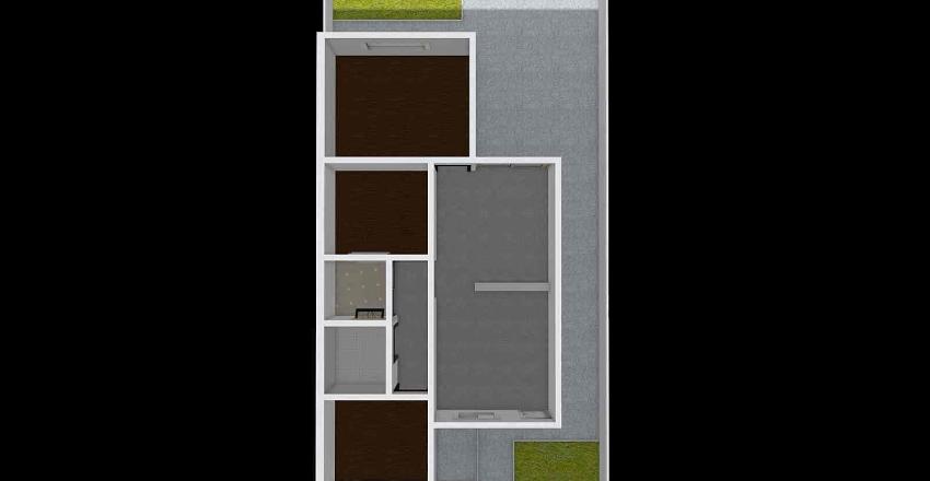 60m - 3 Quartos Interior Design Render
