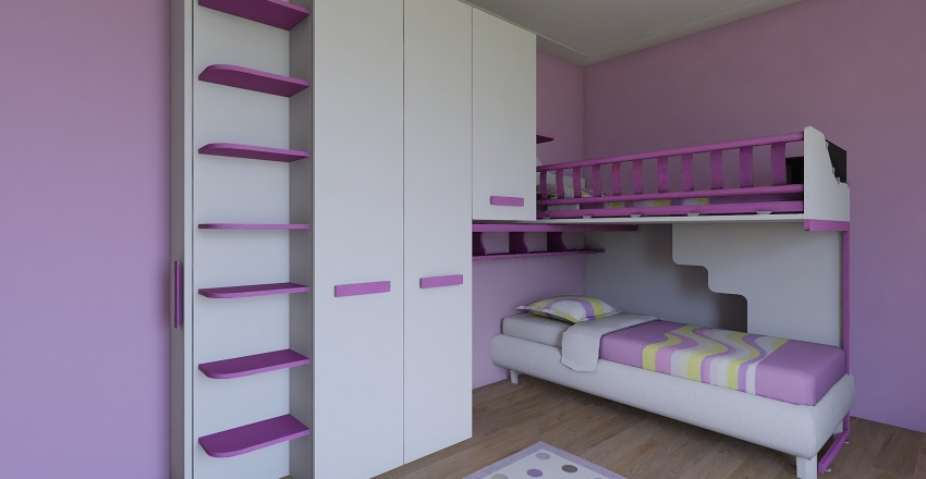 girls room Interior Design Render