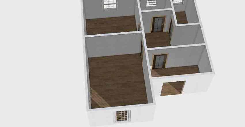 Коттедж Рублевка 2 этаж Interior Design Render
