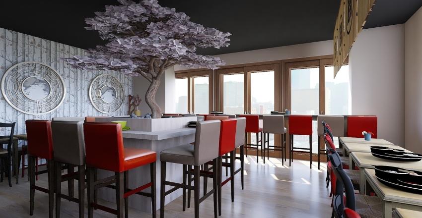 restaurant japonais1 Interior Design Render