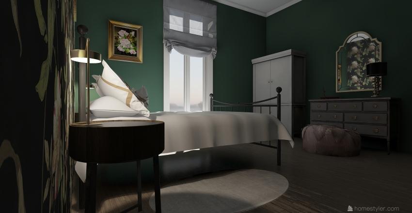 Green chamber Interior Design Render