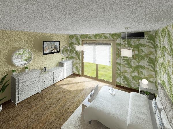 Hotel bedroom Interior Design Render