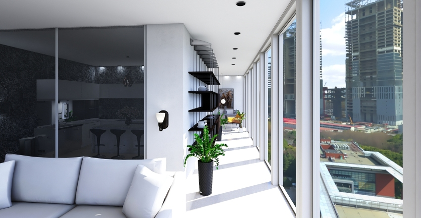 Moderno Apartment  Interior Design Render